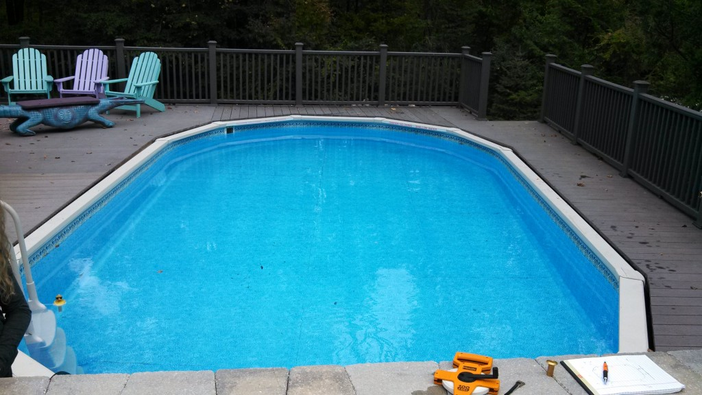Oval above-ground pool