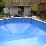 Vinyl liner pool installation