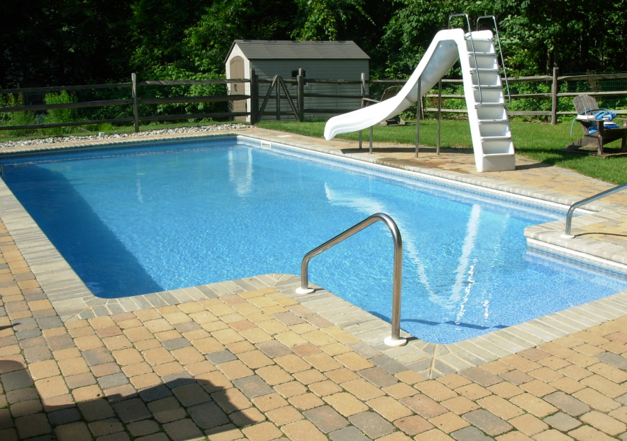 16 X 32 Pool With Paver Coping Fleetwood Pa